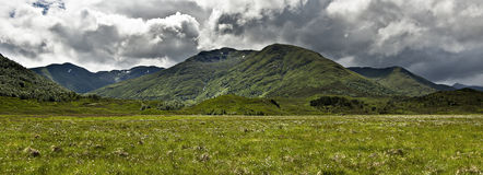 Glen Affric en Bergen - Schotland Stock Afbeeldingen