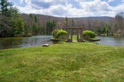 """Glen Alton Farm-†""""reflektierender Teich Lizenzfreie Stockbilder"""
