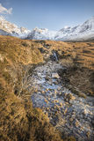 Glen Brittle on the Isle of  Skye. Glen Brittle and the Cuillin at the Fairy pools on the Isle of Skye in Scotland Stock Photos