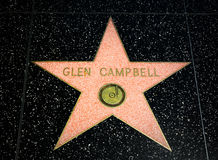Glen Campbell Star on the Hollywood Walk of Fame Royalty Free Stock Photography