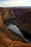 Glen Canyon, Arizona. A shot looking down the winding river through Glen Canyon Stock Photo