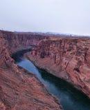 Glen canyon with colorado river Stock Image