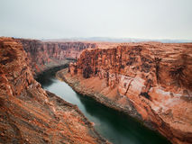 Glen Canyon with Colorado river Stock Image