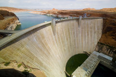 The Glen Canyon Dam. Glen Canyon dam on the Colorado River and Lake Powell in Arizona, US Royalty Free Stock Photography