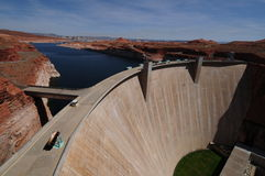Glen Canyon Dam. Although primarily designed for flood control, Glen Canyon Dam produces a great deal of electricity Stock Image