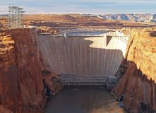The glen canyon dam Stock Image