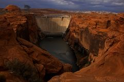 Glen Canyon Dam. Holding Back Lake powell, arizona stock photos