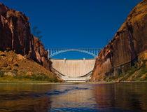 Glen Canyon Dam Fotografie Stock