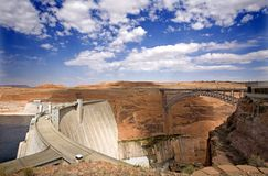 Glen Canyon Dam. And bridge, Arizona Stock Image