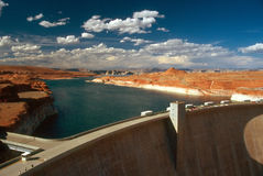GLEN CANYON DAM. In Arizona, with Lake Powell Royalty Free Stock Photo