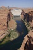 Glen Canyon Dam (Arizona, Etats-Unis) Image stock