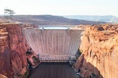 Glen Canyon Dam in Arizona USA lizenzfreies stockbild