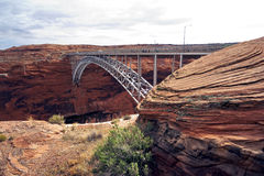 Glen canyon dam bridge Royalty Free Stock Photography