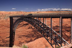 Glen Canyon dam bridge Royalty Free Stock Image