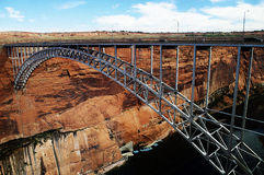 Glen Canyon Dam Bridge Arkivbild