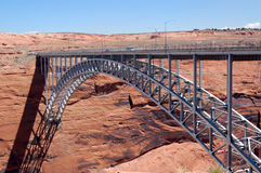 Glen Canyon Dam bridge. Scenic view of Glen Canyon Dam bridge over Colorado river, Arizona, U.S.A Royalty Free Stock Image