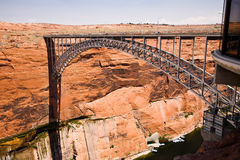 Glen Canyon Dam Bridge Royalty Free Stock Photos