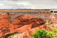 Glen Canyon Dam Bridge stockbild