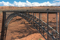 Glen Canyon Dam Bridge, Page, Arizona. Page,Arizona,USA - July 20, 2016 : The Glen Canyon Dam Bridge over the Colorado River Stock Image
