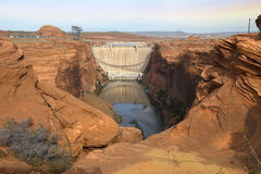 Glen Canyon Dam, Colorado River, Arizona, United States Royalty Free Stock Images