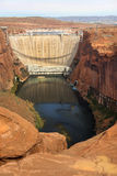 Glen Canyon Dam, Colorado River, Arizona, United States Stock Images
