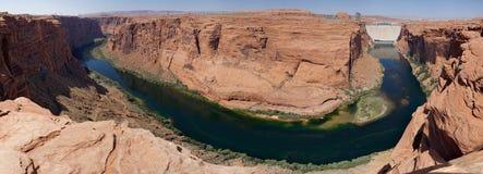 Glen Canyon Dam and Colorado River (Arizona, USA). Cameron, panormaic view on Colorado river and Glen Canyon Dam, Arizona, USA stock photo