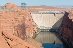 Glen Canyon Dam. On the Colorado River, Page, Arizona royalty free stock photography