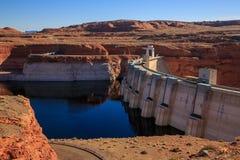 Glen Canyon Dam on Colorado River, Page, Arizona, US Stock Photo