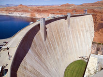 Glen Canyon Dam. Glen Canyon, a concrete arch-gravity dam which forms Lake Powell, near Page, Arizona, USA stock image