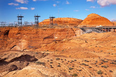 Glen Canyon Dam Electric Towers Arizona Royalty Free Stock Image