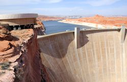 Glen Canyon Dam and Lake Powell Stock Images