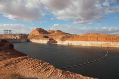The Glen Canyon Dam and Lake Powell Royalty Free Stock Image
