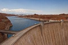 Glen Canyon Dam and Lake Powell Royalty Free Stock Images