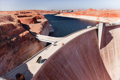 Glen Canyon Dam Lake Powell Arizona Stock Image