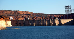Glen Canyon Dam Lake Powell Arizona Stock Images