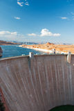 Glen Canyon Dam Lake Powell, Arizona. Glen Canyon Dam panorama with Colorado River in Lake Powell at Page, Arizona Royalty Free Stock Images
