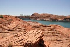 Glen canyon dam, Lake Powell, Arizona. Royalty Free Stock Image