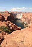 Glen canyon dam, Lake Powell, Arizona. Royalty Free Stock Photography