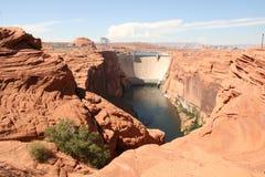 Glen canyon dam, Lake Powell, Arizona. Stock Image