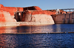 Glen Canyon Dam Lake Powell Canyon Walls Arizona Royalty Free Stock Photography