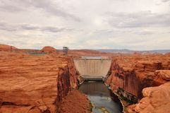 Glen Canyon dam and lake Powell, near Page Stock Photo
