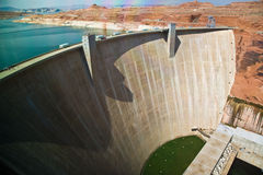 Glen Canyon Dam near Page at  colorado river Stock Photography