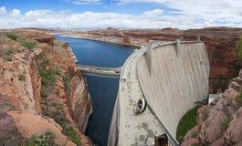 Glen Canyon Dam near sida, Arizona, USA Royaltyfria Foton