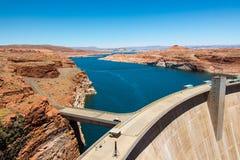 Glen Canyon Dam op Meer Powell Royalty-vrije Stock Fotografie