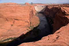 Glen Canyon Dam in Page, Arizona Stock Photography
