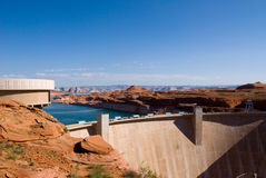 Glen Canyon Dam. In Page, Arizona which forms Lake Powell Stock Photography