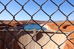 Glen Canyon Dam am See Powell Arizona lizenzfreie stockfotografie