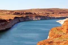 Glen Canyon Dam am See Powell Arizona lizenzfreie stockbilder