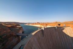 Glen Canyon Dam sjö Powell, Arizona, USA Arkivfoto