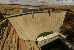 Glen Canyon dam in sunny day Stock Images